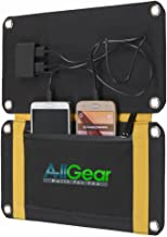 AllGear Solar Charger 15W Solar Foldable Panel with Dual USB Ports for Cell Phone, iPad, Tablets, Digital Cameras and More