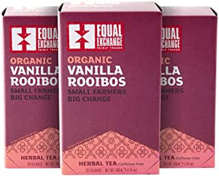Equal Exchange Organic Vanilla Rooibos Tea, 20-Count (Pack of 3)