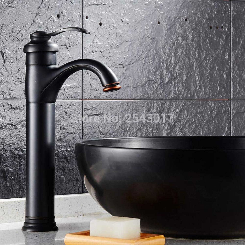 Bathroom Sink Tap Antique Retro Black Faucet Basin Hot and Cold Mixer Black Bronze Finish Deck Mounted