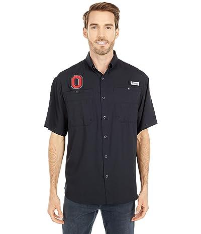 Columbia College Ohio State Buckeyes Tamiami Short Sleeve Shirt (Black) Men