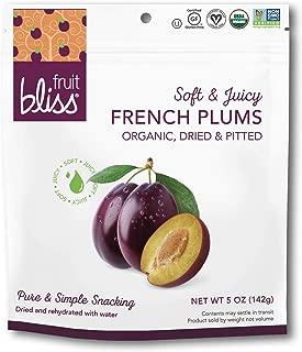 Organic French Plum Dried Fruit Snacks, Soft & Juicy Dried Plums - Sun-Dried Plums – On the Go Snacks, Pitted Plums Organic Fruit Snacks - Non-GMO, Gluten-Free, Vegan Plum Snacks 5oz