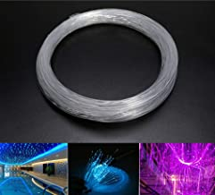 AZIMOM PMMA Plastic End Glow Fiber Optic Cable 1.5mm(0.06in)50m(164ft)/Roll for Star Sky Ceiling All Kind Led Light Engine Driver Source