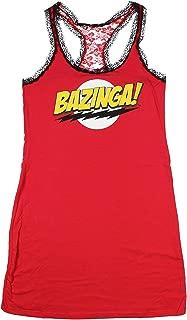 The Big Bang Theory Sheldon Cooper Bazinga Juniors Red Sleep Tank