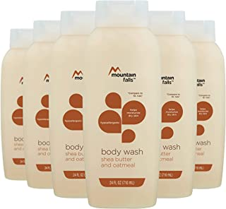 Mountain Falls Body Wash, Shea Butter and Oatmeal, Hypoallergenic, 24 Fluid Ounce (Pack of 6)