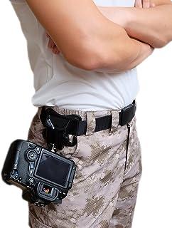 Cámara réflex digital de WITHLIN cintura cinturón bucklebutton - suspensión de la cámara correa funda Portaclips rápida plataforma de carga para cámara SLR réflex digital (Canon Nikon Sony Olympus Pentax etc)