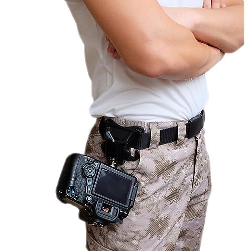 Appareil photo reflex numérique de WITHLIN taille ceinture bucklebutton - cintre camera Holster ceinture portecrochet rapide, plate-forme de chargement pour appareil photo SLR DSLR (Canon Nikon Sony Pentax Olympus, etc.)
