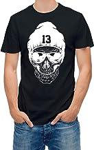 Mannen CottonT T-shirt doodshoofd met glasses DBMA...