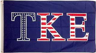 Tau Kappa Epsilon TKE USA Pattern Letter Flag 3' X 5'