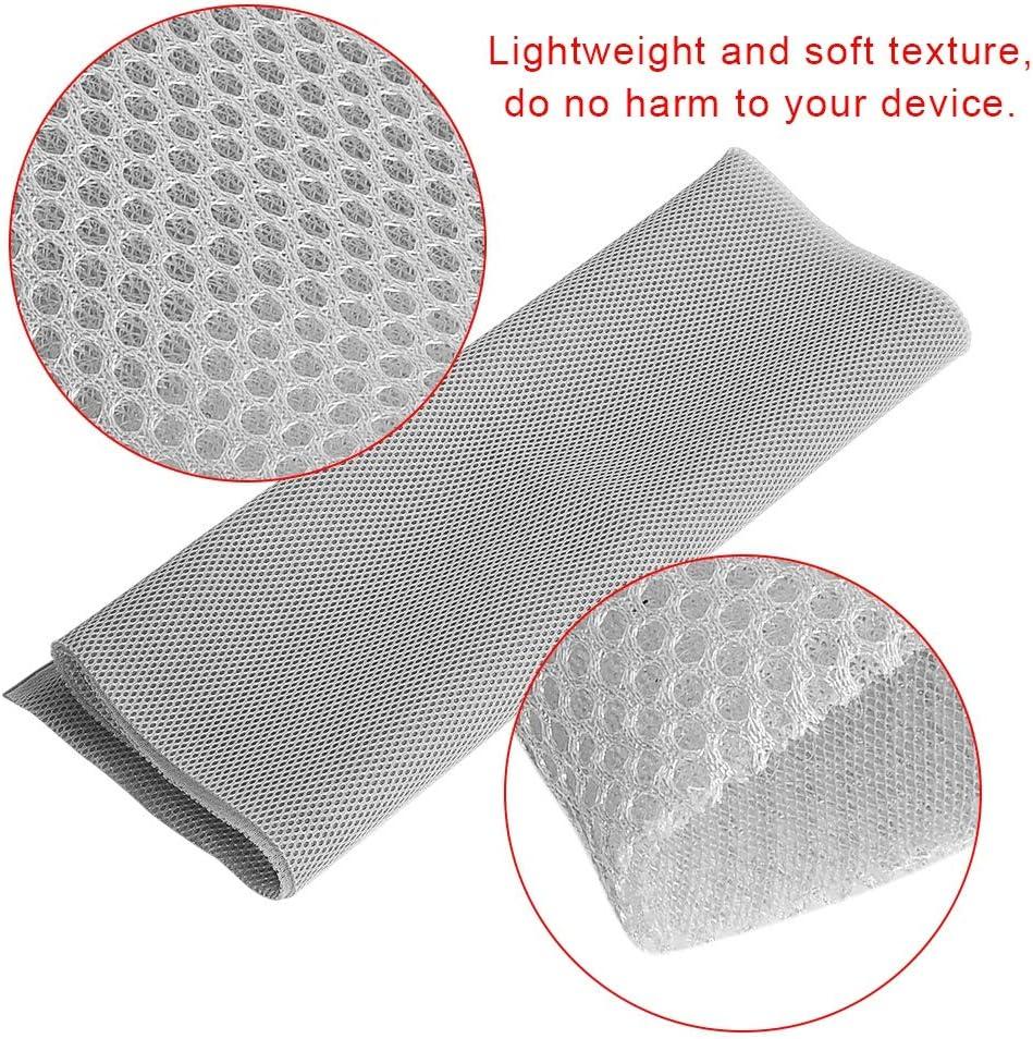 Exliy Tissu de Protection Anti-poussi/ère en Tissu 1,4 MX 0,5 m Housse en Tissu de Protection st/ér/éo pour Haut-Parleur Audio en Maille Tissu en Maille pour Haut-Parleur pour bo/îte de Son Gris