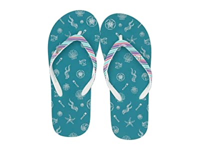 Roxy Kids Little Mermaid Pebbles VI (Little Kid/Big Kid) (Teal) Girls Shoes