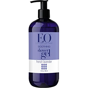 EO Shower Gel, French Lavender, 16-Ounce Bottles (Pack of 2)