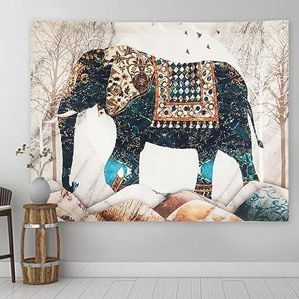 DYHOZZ タペストリー装飾布背景布ベッドヘッド壁布象タペストリー100センチ×75センチ タペストリー