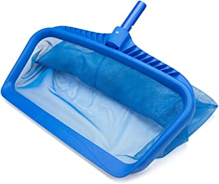 SplashTech Heavy Duty Pool Leaf Rake Head - Deep Bag Attachment Piece for Skimmer Telescoping Pole Stick - Universal Fit, ...