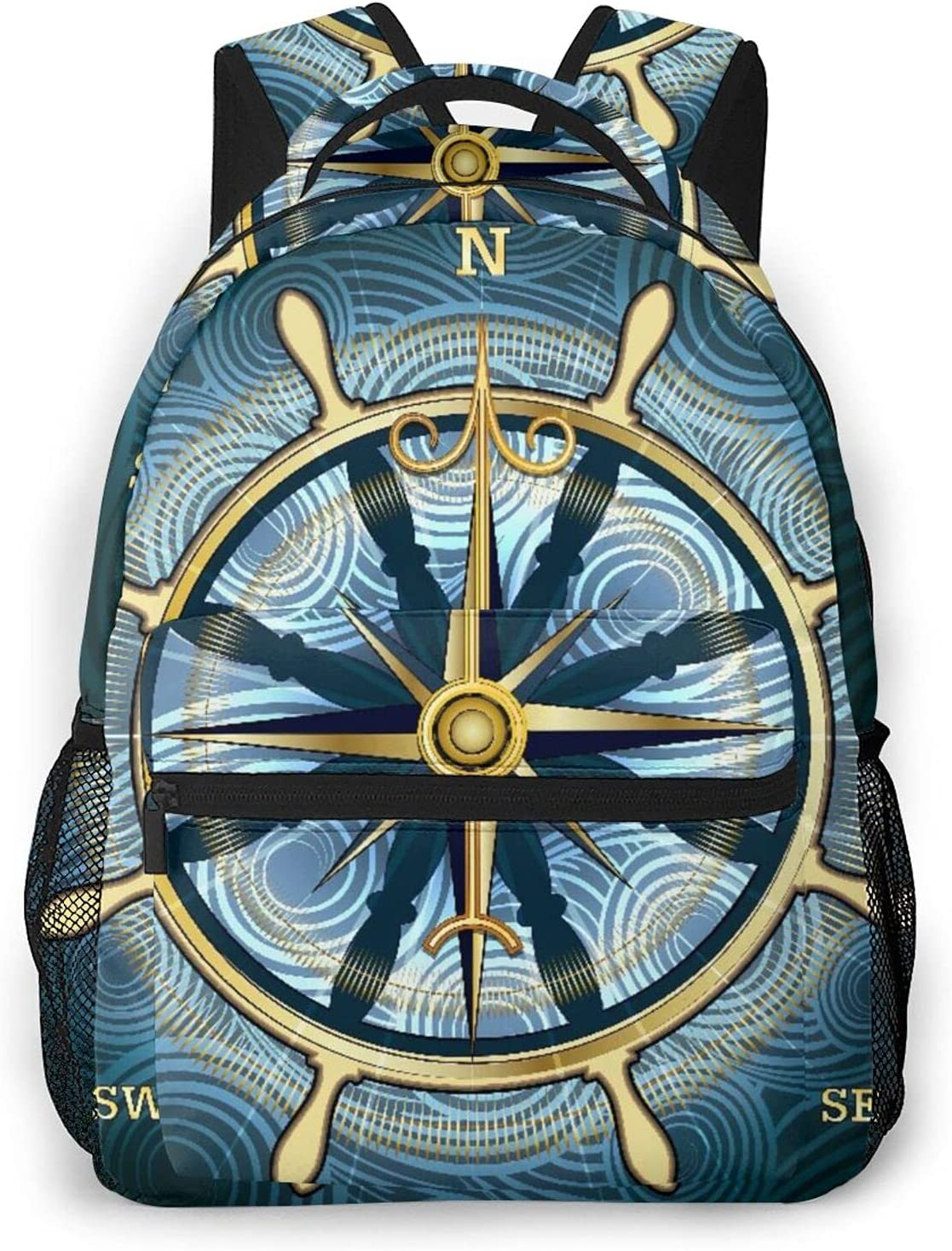 GUVICINIR Everyday Essentials Backpack Compass Golden Navigation Cheap mail order sales 2021 model