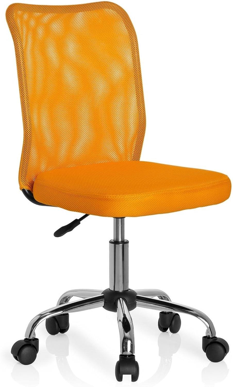 nuevo estilo Hjh OFFICE 685971 silla para Niños KIDDY KIDDY KIDDY NET tejido de malla amarillo, ergonómica, cómoda, fácil de limpiar, malla transpirable, base cromada, estable, Color vivo, silla escritorio, silla juvenil  moda