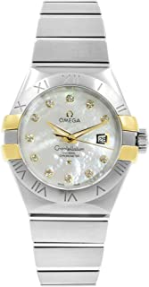 Constellation White Mother of Pearl Diamond Steel and 18K Yellow Gold Ladies Watch 123.20.31.20.55.004