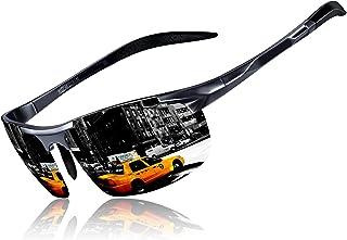 KITHDIA Men's Polarized Sunglasses Aluminium Magnesium Frame Car Driving Sunglasses