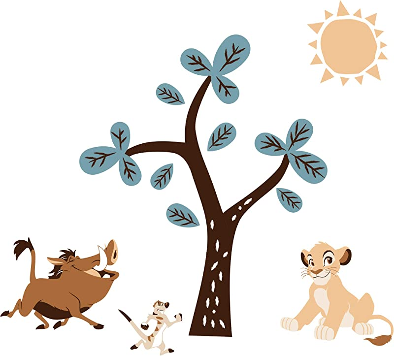 Lambs Ivy Disney Baby Lion King Adventure Tree With Simba Timon Pumbaa Wall Decals Stickers