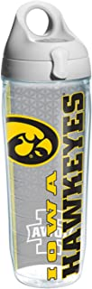 Tervis Iowa University Of College Pride Water Bottle with Grey Lid,  24 oz,  Clear - 1220458
