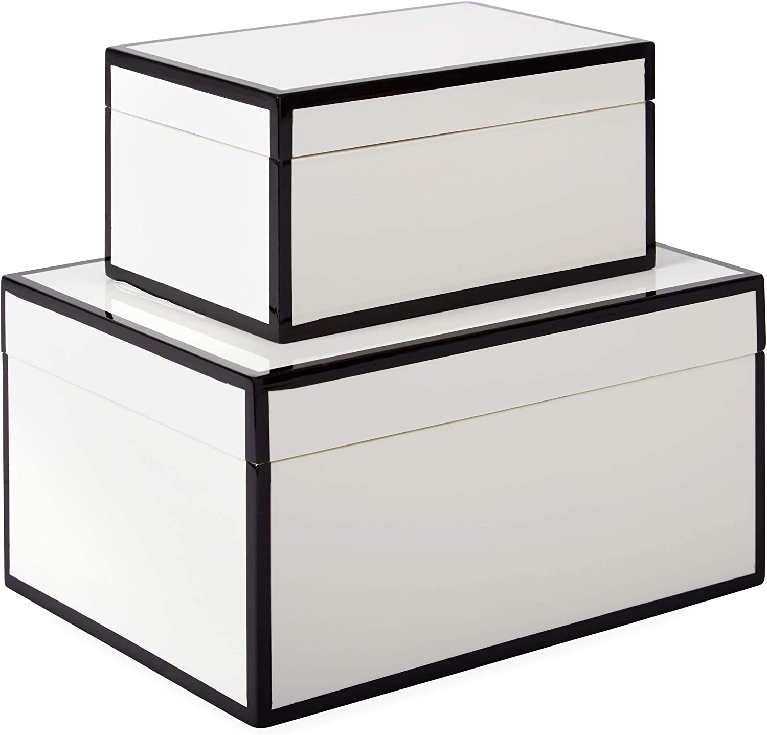 Now House by Jonathan Adler Decorative Accessories Stacking Boxes, White