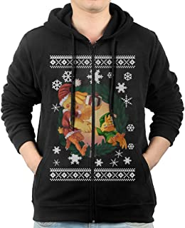 Hoodie Sweatshirt Men's Five Nights At Freddy Long Sleeve Zip-up Hooded Sweatshirt Jacket