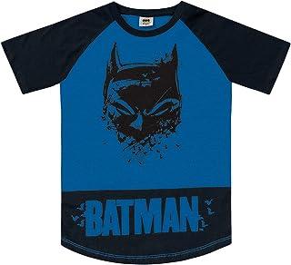 Camiseta com Manga Raglan em Meia Malha Batman, Fakini