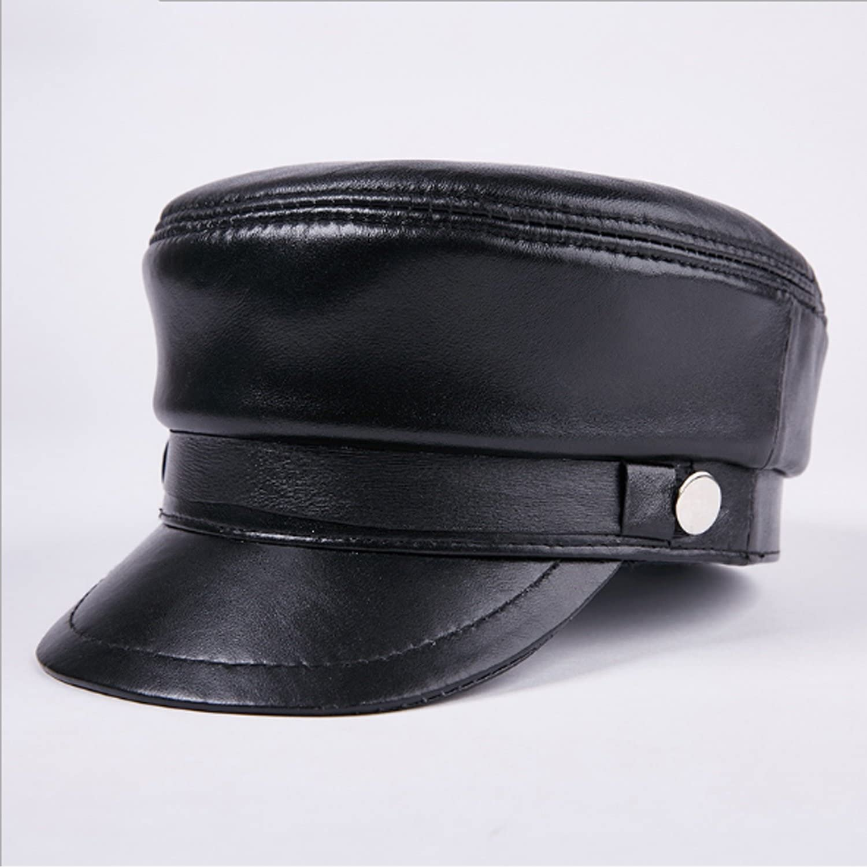 Men Hat supreme Boston Mall Fashion Leather Student Flat Gender Sheepskin Cap Fa