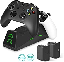 Controller Charger for Xbox One / One X / One S / Elite - innoAura Dual Slot Docking / Charging Station with 2 x 1800mAh Rechargeable Battery Packs
