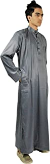 Long Sleeve Fitted Men's Formal Thobe Polished Cotton Arab Robe