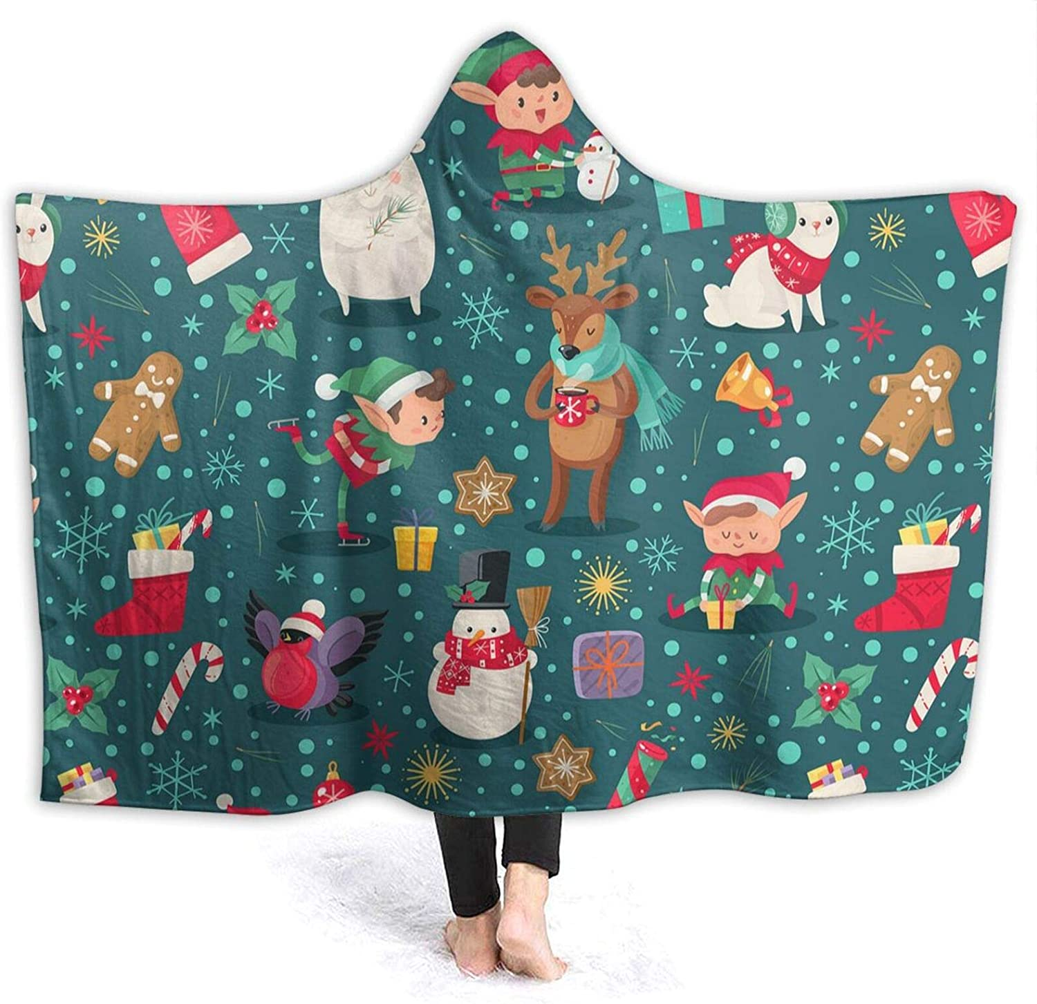 Ranking TOP19 Christmas Characters Hooded Blanket Thr Air Direct sale of manufacturer Conditioning