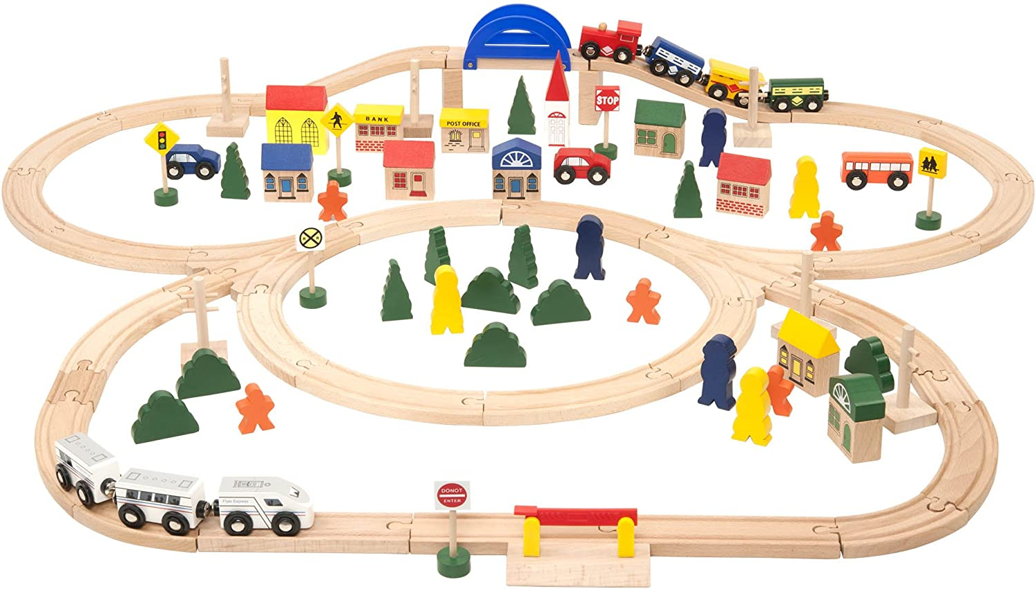Battat - Deluxe Wooden Free shipping anywhere in the nation Train – M Classic Limited time trial price with Toy Set