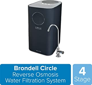 Brondell Circle Reverse Osmosis System, Under Sink, Black – 4 Stage RO Water Designer..