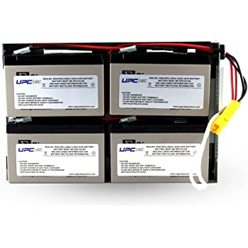 New RBC24 Battery Pack for APC Smart-UPS 1500VA RackMount 2U SUA1500RX2138 Compatible Replacement by UPSBatteryCenter
