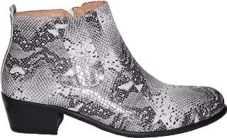 Retro 2 Inch Cuban Heel Snake Print Men's Ankle Boots