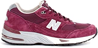 Luxury Fashion | New Balance Men NBM991EBS Red Leather Sneakers | Autumn-winter 19
