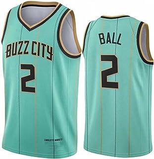 ḷạṃẹlıbıll2#(ボールブラザー)バスケットボールジャージ、ḣọṛṇẹṭṣポイントガード2021ニューシーズンバスケットボールシャツ、メッシュノースリーブトレーニングストライプトップス green-XXL