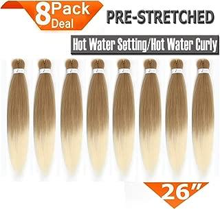8 Packs Pre-Stretched Braiding Hair 26