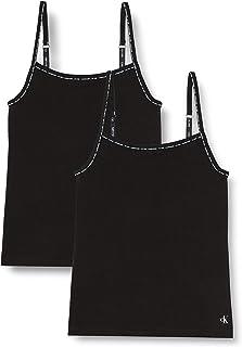 Calvin Klein Women's 2 Pack Camisole, Black, Medium