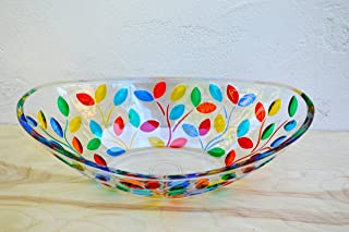 Murano Glass Flowervine Oval Bowl