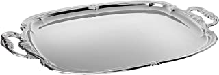 Winco CMT-1912 Oblong Tray with Integrated Handle, Chrome,Medium