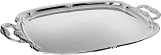 Winco CMT-1912 Oblong Tray with Integrated Handle, Chrome