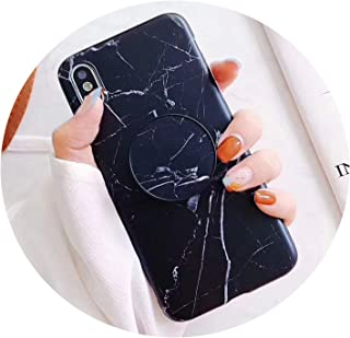 DATAIYANG Case for iPhone Xs Xs Max X 8 7 6 6S Plus for Huawei P20 for Samsung S9 Marble Stand Holder Soft Imd Phone Back Cover,A,for Huawei Nova 3I