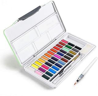 Watercolor Paint Set, Fuumuui 36 Vivid Colors in Pocket Box with Bonus Watercolor Brushes, Travel Water Color Set Perfect ...