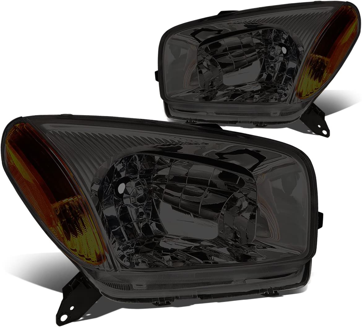 DNA Manufacturer direct Max 88% OFF delivery Motoring HL-OH-101-SM-AM Smoke Replace Amber Headlights Lens