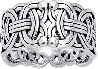 sterling silver viking ring