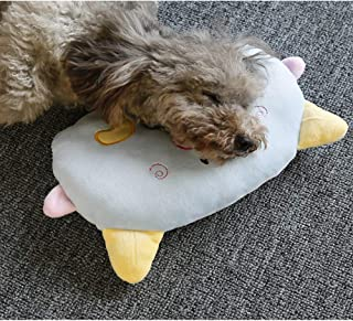 FISHDOG Pet Bed Pillow, an Ideal Naptime Sleeping Companion for Small Dogs and Cats, Cartoon Plush Toy