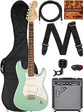 Fender Squier Affinity Stratocaster - Surf Green Bundle with Frontman 10G Amplifier, Gig Bag, Instrument Cable, Tuner, Str...