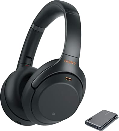 Sony WH1000XM3 Wireless Noise Canceling Over Ear Headphones, Black (WH-1000XM3/B) with Power Bank Portable Charger