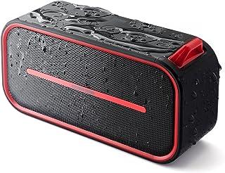 サンワダイレクト Bluetoothスピーカー ポータブル 防水&防塵認証 microSD対応 Bluetooth4.2 6W レッド 400-SP069R