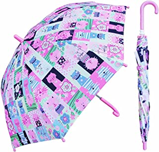 Pink Kitty Cat Umbrella for girls - Manual Open and Close 32 inch - by Adjore